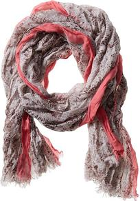 Ciara Snake Print Scarf - predominant colour: pink; occasions: casual, work; type of pattern: small; style: regular; size: standard; material: fabric; embellishment: fringing; pattern: animal print; trends: statement prints