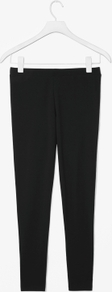 Jersey Leggings - length: standard; pattern: plain; style: leggings; waist: mid/regular rise; predominant colour: black; occasions: casual, evening, work; fibres: cotton - stretch; hip detail: fitted at hip (bottoms); fit: skinny/tight leg; pattern type: fabric; pattern size: standard; texture group: jersey - stretchy/drapey