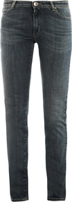 Serio Mid Rise Skinny Jeans - style: skinny leg; length: standard; pattern: plain; pocket detail: traditional 5 pocket; waist: mid/regular rise; predominant colour: charcoal; occasions: casual; fibres: cotton - stretch; jeans detail: whiskering; texture group: denim; pattern type: fabric