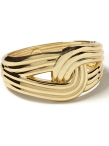 Anchors Knotted Cuff - predominant colour: gold; occasions: casual; style: cuff; size: large/oversized; material: chain/metal; finish: metallic