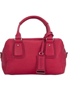 Soft Touch Grab Handbag, Burnt Raspberry - predominant colour: hot pink; occasions: casual, work; type of pattern: standard; style: grab bag; length: handle; size: standard; material: leather; pattern: plain; finish: plain