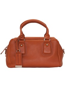 Soft Touch Grab Handbag, Tan - predominant colour: tan; occasions: casual, work; type of pattern: standard; style: grab bag; length: handle; size: standard; material: macrame/raffia/straw; pattern: plain; finish: plain