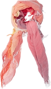 Rainbow Shaded Scarf, Holiday Crush Mix - predominant colour: pink; secondary colour: coral; occasions: casual, holiday; type of pattern: standard; style: regular; size: standard; material: fabric; pattern: tie dye