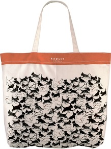 Thames Large Tote Handbag, Natural - secondary colour: tan; occasions: casual, holiday; type of pattern: heavy; style: tote; length: handle; size: standard; material: fabric; predominant colour: monochrome; finish: plain; pattern: patterned/print