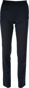 Slim Fit High Waist Trouser - length: standard; pattern: plain; pocket detail: pockets at the sides; waist: mid/regular rise; predominant colour: navy; occasions: casual, evening, work; fibres: wool - 100%; fit: slim leg; pattern type: fabric; texture group: woven light midweight; style: standard