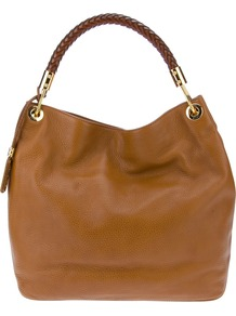 &#x27;Skorpios&#x27; Tote - predominant colour: tan; occasions: casual, work; type of pattern: standard; style: tote; length: handle; size: standard; material: leather; pattern: plain; finish: plain