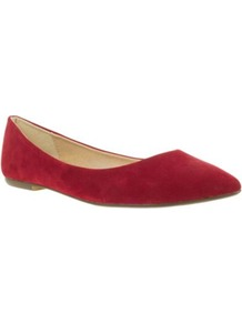 Red Basic Pointed Toe Casual Ballerinas - predominant colour: true red; occasions: casual, evening, work; material: fabric; heel height: flat; toe: pointed toe; style: ballerinas / pumps; finish: plain; pattern: plain