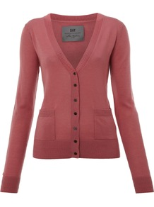 Women&#x27;s Day Cashmere Cardigan, Pink - neckline: low v-neck; pattern: plain; bust detail: buttons at bust (in middle at breastbone)/zip detail at bust; predominant colour: blush; occasions: casual, work; length: standard; style: standard; fit: slim fit; waist detail: front pockets at waist level; fibres: cashmere - 100%; sleeve length: long sleeve; sleeve style: standard; texture group: knits/crochet; pattern type: knitted - fine stitch