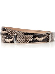 Datchworth Belt, Orange - predominant colour: black; occasions: casual, evening, work; type of pattern: heavy; style: classic; size: standard; worn on: waist; material: leather; pattern: animal print; finish: plain