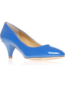 Swaymeso3 Court Shoes, Blue - predominant colour: diva blue; occasions: evening, work, occasion; material: faux leather; heel height: mid; heel: cone; toe: round toe; style: courts; finish: patent; pattern: plain