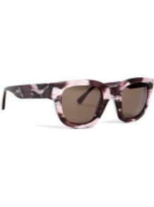 Printed Frame Sunglasses - predominant colour: chocolate brown; occasions: casual, work, occasion, holiday; style: d frame; size: standard; material: plastic/rubber; finish: plain; pattern: patterned/print