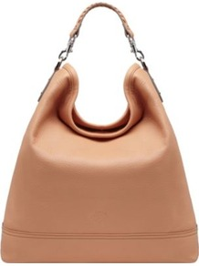 Effie Spongy Pebbled Leather Hobo - predominant colour: camel; occasions: casual, evening, work, holiday; type of pattern: light; style: shoulder; length: shoulder (tucks under arm); size: standard; material: leather; pattern: plain; finish: plain