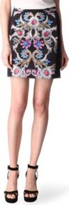 Jubilee Skirt - length: mid thigh; style: straight; fit: tight; waist: mid/regular rise; predominant colour: black; occasions: evening, work, occasion; fibres: silk - 100%; texture group: silky - light; trends: high impact florals, statement prints; pattern type: fabric; pattern size: big & busy; pattern: florals, patterned/print