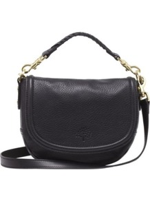 Effie Small Spongy Pebbled Leather Satchel - predominant colour: black; occasions: casual, work; type of pattern: light; style: satchel; length: across body/long; size: small; material: leather; pattern: plain; finish: plain