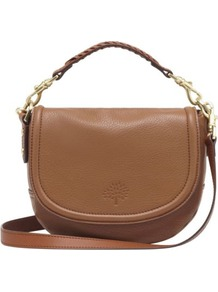 Effie Small Spongy Pebbled Leather Satchel - predominant colour: tan; occasions: casual, work; type of pattern: light; style: satchel; length: across body/long; size: small; material: leather; pattern: plain; finish: plain