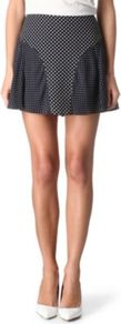 Marina Printed Skirt - length: mid thigh; fit: body skimming; pattern: polka dot; waist: mid/regular rise; secondary colour: white; predominant colour: navy; occasions: casual, evening; style: mini skirt; fibres: silk - 100%; texture group: silky - light; pattern type: fabric; pattern size: small & light