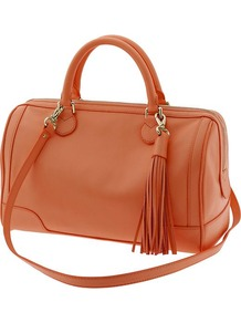 Evan Satchel - predominant colour: tan; occasions: casual; style: bowling; length: across body/long; size: standard; material: leather; pattern: plain; finish: plain