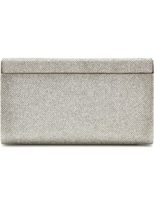 Cayla Glitter Clutch - predominant colour: silver; occasions: evening, occasion; type of pattern: standard; style: clutch; length: hand carry; size: small; material: fabric; embellishment: glitter; pattern: plain; trends: metallics; finish: metallic