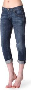 Dylan Boyfriend Mid Rise Jeans - style: skinny leg; pattern: plain; pocket detail: traditional 5 pocket; waist: mid/regular rise; predominant colour: denim; occasions: casual; length: calf length; fibres: cotton - stretch; jeans & bottoms detail: turn ups; texture group: denim; pattern type: fabric