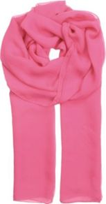 Pina Silk Chiffon Scarf - predominant colour: pink; occasions: casual, work, occasion; type of pattern: standard; style: regular; size: standard; material: silk; pattern: plain