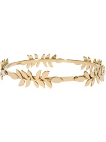 Gaby Bracelet - predominant colour: gold; occasions: evening, work, occasion; style: bangle; size: small; material: chain/metal; trends: metallics; finish: plain; embellishment: chain/metal
