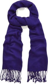 Celeste Scarf, Amethyst - predominant colour: purple; occasions: casual, evening, work, occasion; style: regular; size: standard; material: fabric; embellishment: fringing, tassels; pattern: plain
