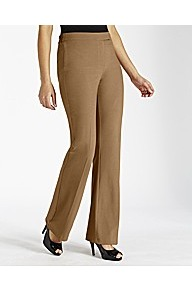 Bootcut Trouser - length: standard; pattern: plain; waist detail: fitted waist; waist: mid/regular rise; predominant colour: camel; occasions: casual, evening, work; fibres: polyester/polyamide - mix; hip detail: fitted at hip (bottoms); fit: bootcut; pattern type: fabric; texture group: jersey - stretchy/drapey; style: standard