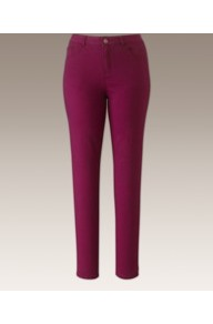 Chloe Super Stretch Skinny Jeans 33in - length: standard; pattern: plain; pocket detail: traditional 5 pocket; style: slim leg; waist: mid/regular rise; predominant colour: magenta; occasions: casual, evening, work; fibres: cotton - stretch; texture group: denim; pattern type: fabric