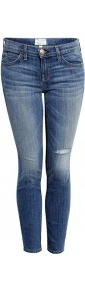 Jukebox Destroy Stiletto Jeans - style: skinny leg; pattern: plain; pocket detail: traditional 5 pocket; waist: mid/regular rise; predominant colour: denim; occasions: casual, evening, holiday; length: ankle length; fibres: cotton - stretch; jeans detail: whiskering, shading down centre of thigh, washed/faded; texture group: denim; pattern type: fabric