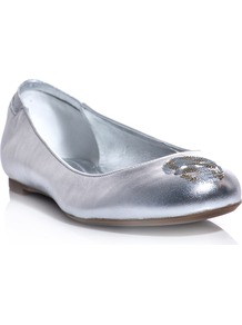 Sequin Skull Leather Flats - predominant colour: silver; occasions: casual, evening, work; material: leather; heel height: flat; embellishment: sequins; toe: round toe; style: ballerinas / pumps; trends: metallics; finish: metallic; pattern: patterned/print, plain