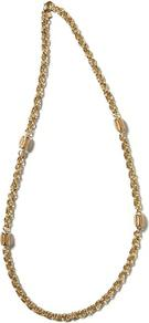 Floral Bouquet Spiral Necklace - predominant colour: gold; occasions: casual, evening, work; style: standard; length: mid; size: small; material: chain/metal; finish: metallic; embellishment: beading