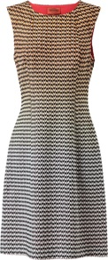 Cotton Blend Knitted Gradient Dress - style: shift; neckline: round neck; fit: tailored/fitted; sleeve style: sleeveless; waist detail: fitted waist; predominant colour: yellow; secondary colour: black; occasions: evening, work, occasion; length: just above the knee; fibres: cotton - mix; sleeve length: sleeveless; texture group: cotton feel fabrics; trends: glamorous day shifts; pattern type: knitted - fine stitch; pattern size: small &amp; busy; pattern: patterned/print