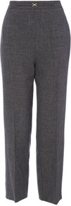 Multi Snaffle Trouser - length: standard; pattern: plain; waist: high rise; predominant colour: charcoal; occasions: casual, evening, work; fibres: polyester/polyamide - 100%; fit: straight leg; pattern type: fabric; texture group: woven light midweight; style: standard
