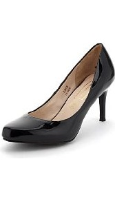 Autograph Leather Almond Toe Court Shoes With Insolia® - predominant colour: black; occasions: casual, evening, work; material: leather; heel height: high; heel: stiletto; toe: square toe; style: courts; finish: patent; pattern: plain
