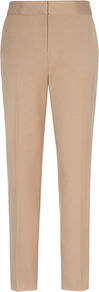 Paris Slim Leg Trousers - length: standard; pattern: plain; waist: mid/regular rise; predominant colour: camel; occasions: casual, evening, work; fibres: viscose/rayon - stretch; fit: slim leg; pattern type: fabric; pattern size: standard; texture group: woven light midweight; style: standard