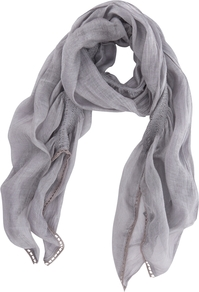 Washed Damson Gauzy Scarf, Lilac - predominant colour: lilac; occasions: casual, work; type of pattern: standard; style: regular; size: standard; material: fabric; pattern: plain
