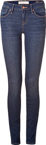 Blue Sammy Super Skinny Jeans - style: skinny leg; length: standard; pattern: plain; pocket detail: traditional 5 pocket; waist: mid/regular rise; predominant colour: denim; occasions: casual; fibres: cotton - stretch; jeans detail: whiskering; texture group: denim; pattern type: fabric