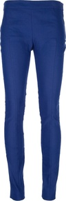 &#x27;Best&#x27; Stretch Trouser - length: standard; pattern: plain; pocket detail: pockets at the sides; waist: mid/regular rise; predominant colour: royal blue; occasions: casual, evening, work; fibres: linen - mix; waist detail: narrow waistband; texture group: cotton feel fabrics; fit: skinny/tight leg; style: standard