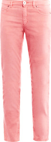 Madre Mid Rise Skinny Leg Jeans - style: straight leg; length: standard; pattern: plain; pocket detail: traditional 5 pocket; waist: mid/regular rise; predominant colour: pink; occasions: casual, evening, holiday; fibres: cotton - stretch; texture group: denim; pattern type: fabric