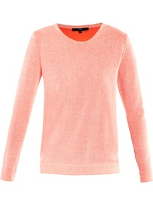 Reversible Neon Sweater - neckline: round neck; pattern: plain; style: standard; predominant colour: bright orange; occasions: casual, work; length: standard; fibres: polyester/polyamide - 100%; fit: standard fit; sleeve length: long sleeve; sleeve style: standard; texture group: knits/crochet; pattern type: knitted - fine stitch