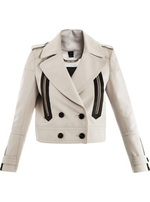 Newport Jacket - pattern: plain; style: double breasted blazer; collar: standard lapel/rever collar; predominant colour: ivory; occasions: casual, evening; length: standard; fit: tailored/fitted; fibres: cotton - 100%; shoulder detail: discreet epaulette; sleeve length: long sleeve; sleeve style: standard; texture group: cotton feel fabrics; collar break: medium; pattern type: fabric