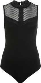Dobby Sleeveless Body - neckline: round neck; pattern: plain; sleeve style: sleeveless; shoulder detail: contrast pattern/fabric at shoulder; predominant colour: black; occasions: casual, evening; length: standard; style: top; fibres: viscose/rayon - stretch; fit: tight; sleeve length: sleeveless; pattern type: fabric; texture group: jersey - stretchy/drapey