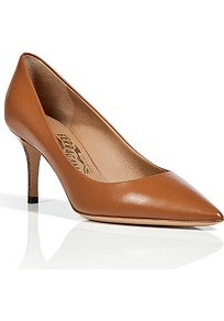 Hazelnut Leather Pointed Toe Susi Pumps - predominant colour: tan; occasions: evening, work; material: leather; heel height: high; heel: stiletto; toe: pointed toe; style: courts; finish: plain; pattern: plain