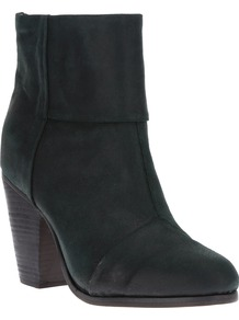 'Classic Newbury' Ankle Boot - predominant colour: black; occasions: casual, evening, work; material: suede; heel height: high; heel: block; toe: round toe; boot length: ankle boot; style: standard; finish: plain; pattern: plain