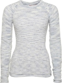 Blue Roll Hem Raglan Jumper - neckline: round neck; sleeve style: raglan; pattern: plain; length: below the bottom; style: standard; predominant colour: pale blue; occasions: casual, work; fibres: acrylic - mix; fit: slim fit; sleeve length: long sleeve; texture group: knits/crochet