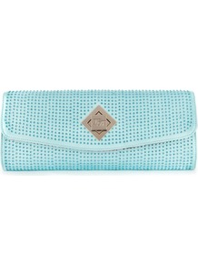Ted Baker Tilsley Crystal Clutch - secondary colour: pale blue; predominant colour: pistachio; occasions: evening, occasion, holiday; type of pattern: small; style: clutch; length: hand carry; size: standard; material: fabric; embellishment: crystals; pattern: plain; finish: plain