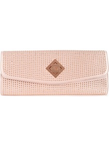 Ted Baker Tilsley Crystal Clutch - predominant colour: nude; occasions: evening, occasion, holiday; type of pattern: light; style: clutch; length: hand carry; size: standard; material: fabric; embellishment: crystals; pattern: plain; finish: plain