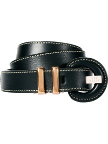 Holby Skinny Belt - predominant colour: black; occasions: casual, work; type of pattern: standard; style: classic; size: skinny; worn on: hips; material: leather; pattern: plain; finish: plain
