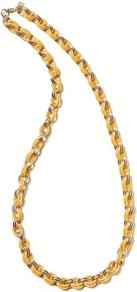 Link Necklace - predominant colour: gold; occasions: casual, evening, work, holiday; style: standard; length: mid; size: standard; material: chain/metal; finish: plain; embellishment: chain/metal