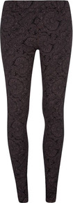 Fig Paisley Print Jegging - length: standard; style: leggings; pattern: paisley; waist: mid/regular rise; predominant colour: purple; secondary colour: black; occasions: casual; fibres: cotton - stretch; texture group: jersey - clingy; fit: skinny/tight leg; pattern type: fabric; pattern size: big &amp; busy